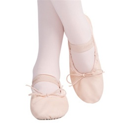 Children's Daisy Full Sole Leather Ballet Shoe 205t